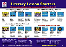 Literacy Lesson Starters software