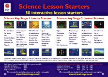Science Lesson Starters software
